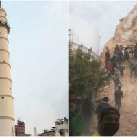 Nepal, terremoto causa crollo della torre Dharahara, patrimonio Unesco