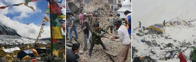 Nepal: forte sisma, 1500 morti   foto   -   video    250 uccisi sotto torre Unesco    prima/dopo