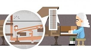 Bartolomeo Cristofori, il doodle  per il precursore del pianoforte