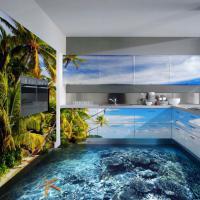 """Il pavimento è un oceano: il 3D crea l'interior design """"acquatico"""""""