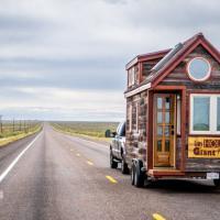 Tutto in 40 mq: la mini casa ecologica su ruote