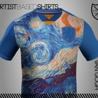 Calcio, le maglie come opere d'arte: si ispirano a Van Gogh, Picasso e Monet