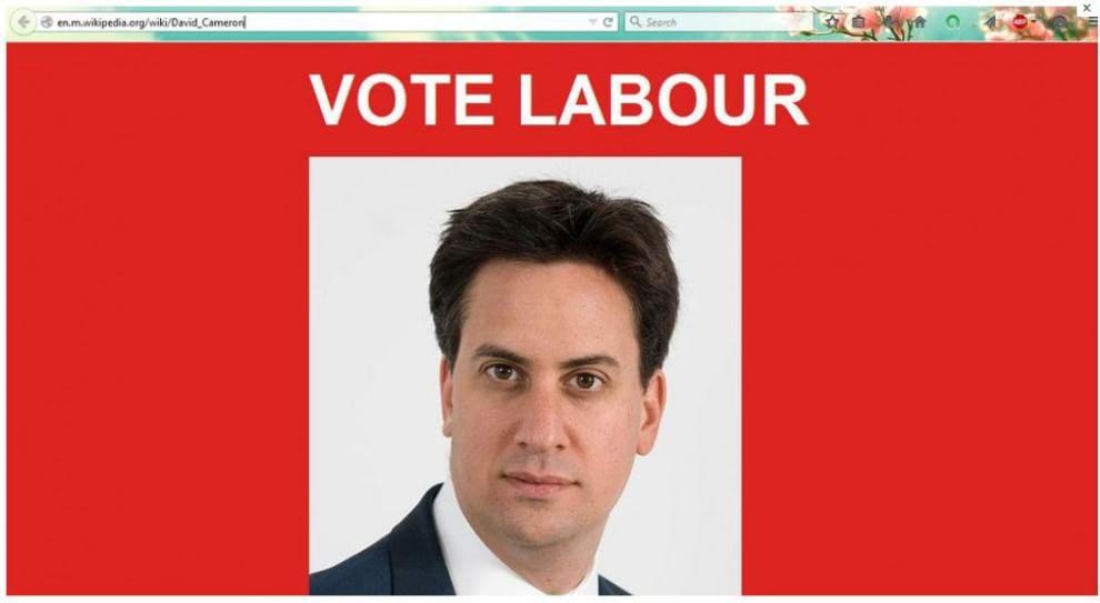 Elezioni Gb, hackerata la pagina Wikipedia di David Cameron: al suo posto Miliband