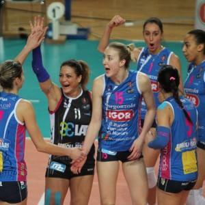 Volley donne, finale scudetto: Novara torna avanti, martedì il primo match ball