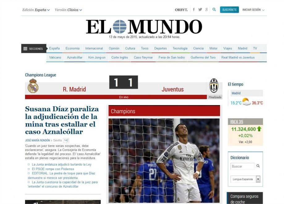 Juve in finale, delusione Real: la notizia sui siti spagnoli