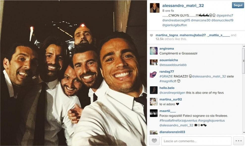 Champions League, Juve in finale: la gioia nei selfie