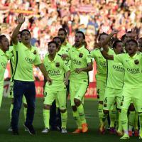 Barcellona, festa per la vittoria della Liga