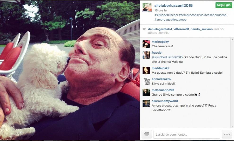 Silvio Berlusconi con Dudù: l'ex premier rilancia su Instagram