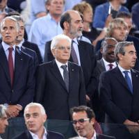 Mattarella all'Olimpico per la finale di Coppa Italia