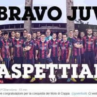 Il tweet di auguri del Barcellona