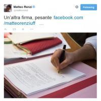 Ecoreati, Renzi su Twitter: ''Un'altra firma pesante''
