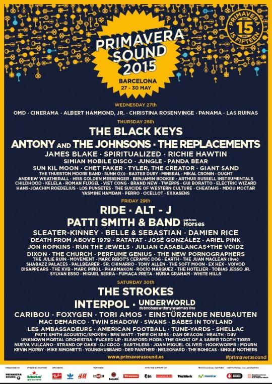 Primavera Sound 2015, il meglio del rock sbarca a Barcellona