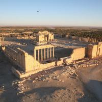 Siria, veduta aerea del sito di Palmira prima dell'arrivo dell'Is