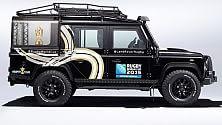 E la Land Rover porta la coppa del mondo Rugby