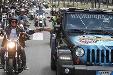 Un weekend all'insegna di Jeep, Harley-Davidson e della solidarietà