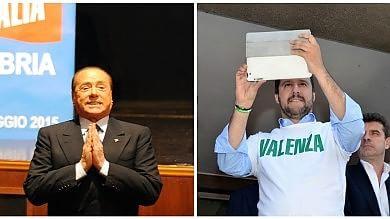 Salvini: l'Ue sta massacrando l'Italia Berlusconi: un provocatore. Noi oltre il 10%