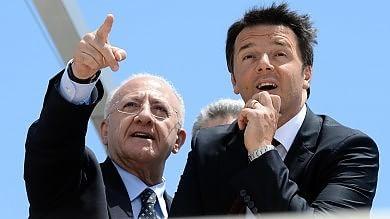 """De Luca: """"Per Renzi, Severino superabile"""" Regionali, il premier:  """"Il Pd è legalità """""""
