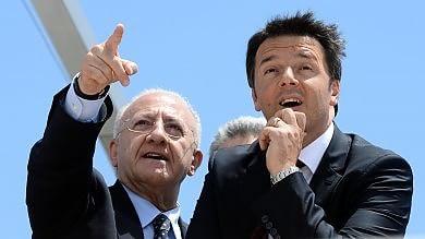 """De Luca: """"Per Renzi Severino superabile"""". Regionali, il premier: """"Il Pd è legalità"""""""
