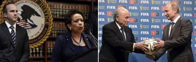 """Fifa, arresti Fbi: scontro diplomatico con Mosca Usa: """"Corrotto il calcio negli ultimi 20 anni""""  L'Uefa di Platini chiede  il rinvio delle elezioni"""