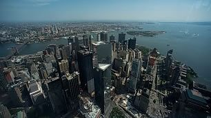 New York mai vista dall'alto    video    apre il One World Observatory