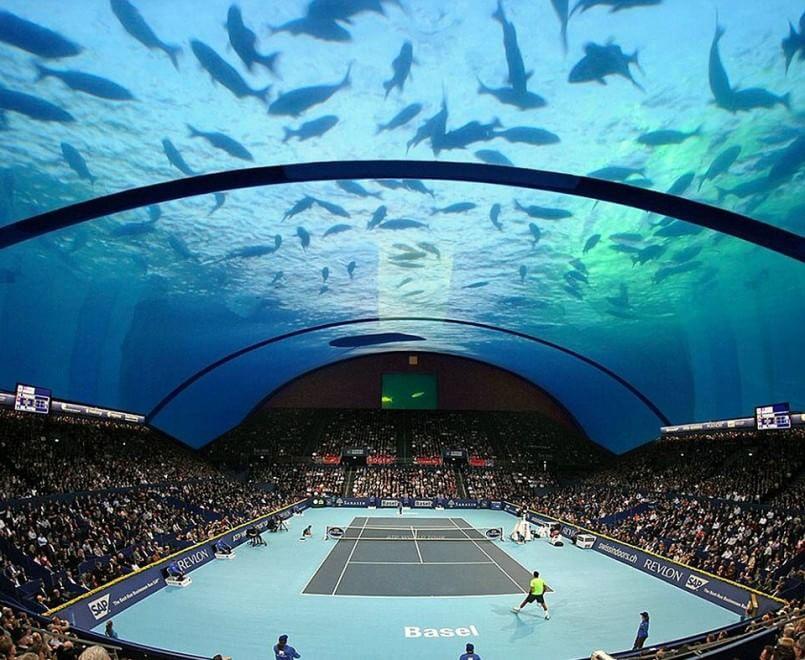 Dubai sogna: tennis subacqueo, il progetto per l'arena sommersa