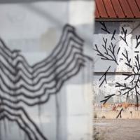 Catanzaro, la street art astratta che gioca con l'architettura