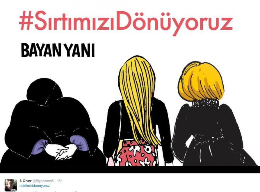 Turchia: donne di spalle a Erdogan, protesta sui social network