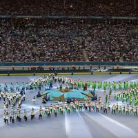Juventus-Barcellona, la cerimonia inaugurale