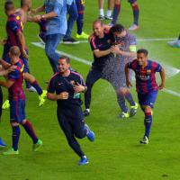 Finale Champions, la festa del Barcellona