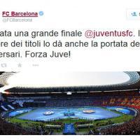 Barça twitta i complimenti, Juve l'orgoglio: il dopopartita social
