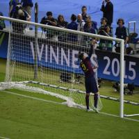 Juventus-Barcellona, Piquè taglia la rete