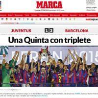 Barça campione d'Europa: le prime pagine dei siti spagnoli