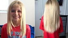 Cancro infantile  regala i suoi capelli  ai bambini che li perdono per la chemioterapia