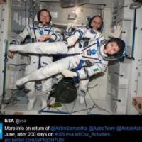 AstroSamantha: torna dallo spazio la donna dei record