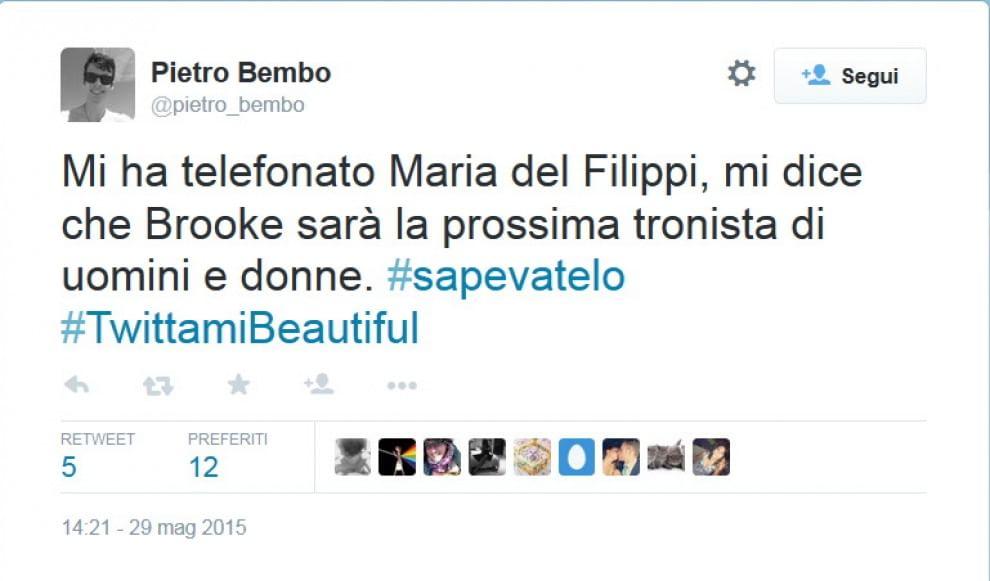 "Tradimenti, amori e paradossi: ironia su ""Beautiful"" a colpi di tweet"