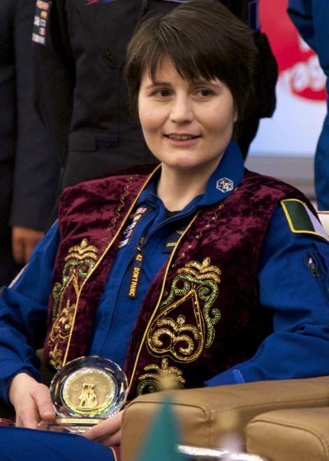 il benvenuto kazako ad AstroSamantha e ai suoi colleghi