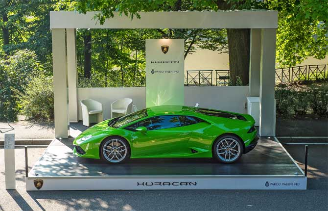 Lamborghini show al Parco del Valentino