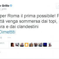 Grillo, polemica su Marino :