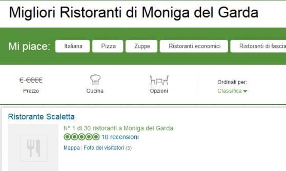 Il ristorante non esiste, ma è primo in classifica. TripAdvisor sotto accusa