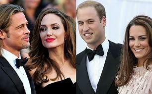 Brad Pitt e Angelina Jolie, tè reale con William e Kate