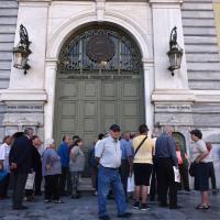 Atene, banche chiuse e referendum: fotoracconto della crisi