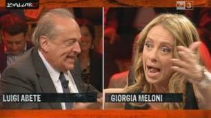 """Meloni-Abete: """"Governo difeso da banchieri"""". Replica: """"Improvvida"""""""