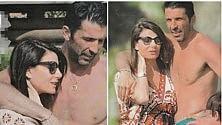 Gigi Buffon e Ilaria d'Amico ferie in famiglia, con pancione