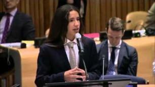 """A 15 anni parla all'assemblea Onu """"Fermate i cambiamenti climatici"""""""
