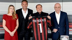 """Berlusconi: """"Possiamo  competere per scudetto""""   Video  Il lapsus  Miha:incutiamo rispetto"""