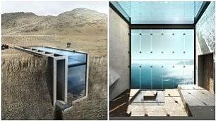 Abitazione a picco sul mare Egeo vista super e una piscina sul tetto