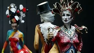 Austria, sfide di bodypainting Festival di colori sul corpo