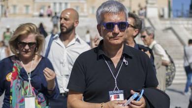 """Mattarella: """"Per Europa scenari inediti"""" gli italiani del 'No' ad Atene   foto"""