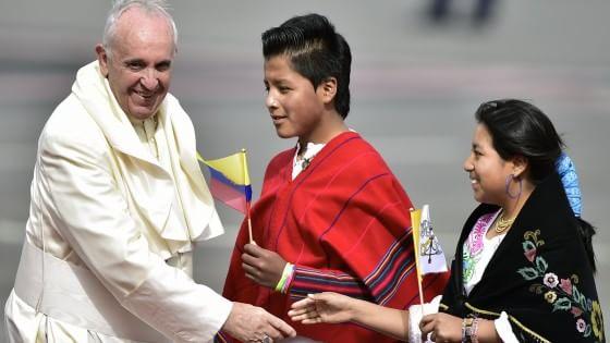 Il Papa è in Ecuador, prima tappa del viaggio in Sud America