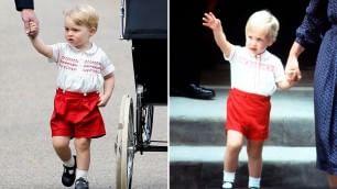 E George ha lo stesso vestito che William portava 31 anni fa